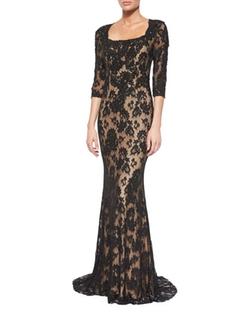 Jovani  - Lace Column Gown