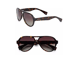Polaroid - 57MM Oversized Aviator Sunglasses