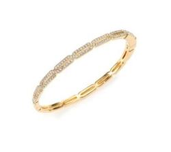 Adriana Orsini - Pave Crystal Long Hexagon Bangle Bracelet