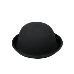 Funoc - Wool Felt Cloche Derby Bowler Hat