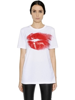 Maison Margiela - Lips Printed Cotton Jersey T-Shirt