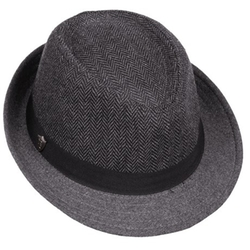 Dorfman Pacific - Herringbone and Solid Fedora Hat