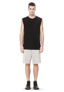 Alexander Wang - Slub Rayon Silk Muscle Tee Shirt