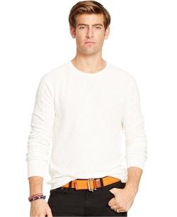 Polo Ralph Lauren - Waffle-Knit Crew-Neck Shirt