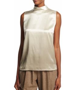 Lafayette 148 New York - Fernanda Sleeveless Mock-Neck Ombre Silk Blouse