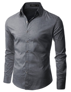 Doublju - Mens Button Down Dress Shirts