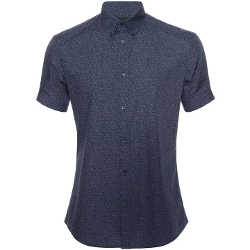 Alexander McQueen - Texture Printed Short Sleeve Shirt