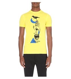 D Squared - Hand-Print Cotton T-Shirt
