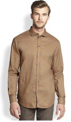 Armani Collezioni  - Solid Woven Sportshirt