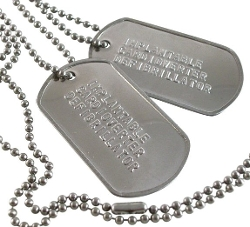 Charming Bracelets - Stainless Steel Dog Tag Necklace
