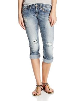 Silver Jeans  - Juniors Tuesday Low Rise Denim Capri