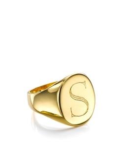 Sarah Chloe - Gold Oval Lana Signet Ring