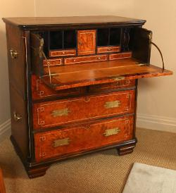 Harbor View Center for Antiques - Indian Campaign Secretaire or Chest