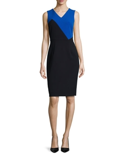 Milly  - Daphne Colorblock Sheath Dress
