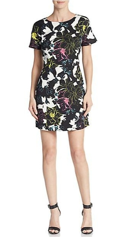 French Connection  - Botanical-Print Shift Dress