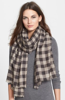 Eileen Fisher  - Check Wool Scarf