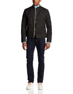 Cole Haan - Coated Cotton Moto Jacket