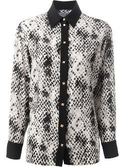 Emanuel Ungaro - snake skin print shirt