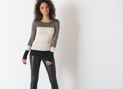 Dynamite - Shiny Colorblock Sweater