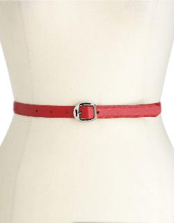 RALPH LAUREN  - Saffiano Skinny Leather Belt