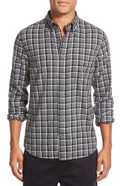 Jack Spade - Trim Fit Herringbone Check Sport Shirt