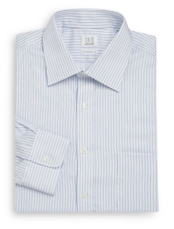 Ike By Ike Behar  - Regular-Fit Striped Cotton Dress Shirt