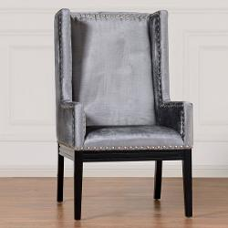 Tribeca  - Grey Velvet Chair