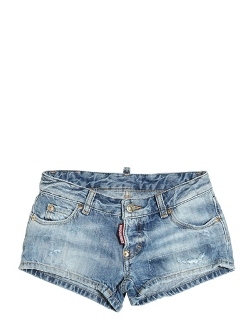 Dsquared2  - Destroyed Cotton Denim Short