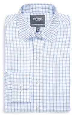 Bonobos  - Slim Fit Wrinkle Free Check Dress Shirt