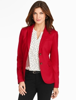 Talbots - Italian Flannel Double-Button Blazer