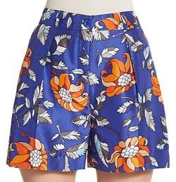 Ostwald Helgason  - Floral Print Silk Shorts