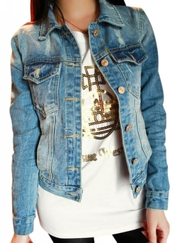 Uget - Korean Style Denim Jacket