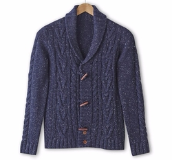 La Redoute - Cable Knit Shawl Collar Cardigan