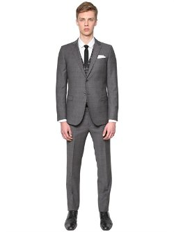 Manuel Ritz  - Extra Fine Merino Prince of Wales Suit