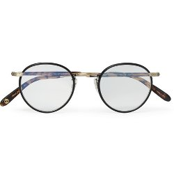 Garrett Leight California Optical   - Wilson Round-frame Acetate And Metal Optical Glasses