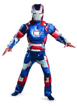 Disguise - Iron Patriot Boys Muscle Light Up Costume