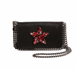 Stella McCartney - Falabella Crystal-Star Crossbody Clutch Bag