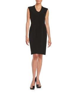 Nipon Boutique - V-Neck Sheath Dress