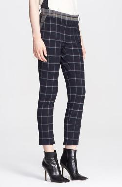 Band of Outsiders  - Plaid Crop Pants
