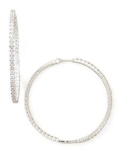 Roberto Coin - Diamond Hoop Earrings