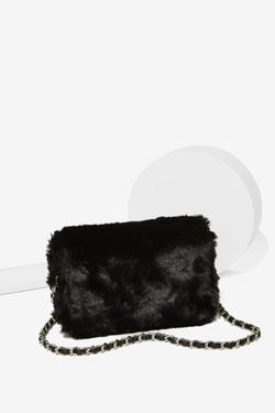 Nasty Gal - Estrella Faux Fur Crossbody Bag