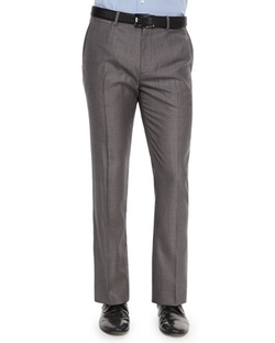 Theory - Marlo Text-Dot Wool Trousers