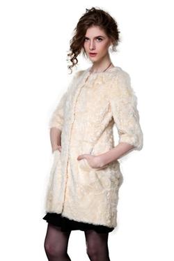 Little Victoria - Lamb Skin Leather Coat
