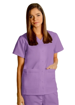 Adar Uniforms - Universal Double Pocket Snap Front Top