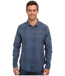 Calvin Klein Jeans  - Midnight Navy Woven Plaid Shirt