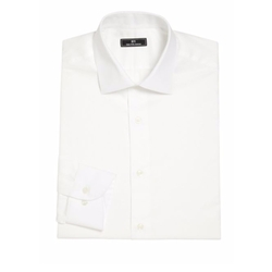 611 Saks Fifth Avenue New York - Solid Cotton Dress Shirt