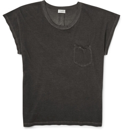 Saint Laurent  - Faded Cotton-Jersey T-Shirt