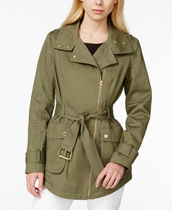 Guess  - Belted Asymmetrical Anorak Jacket