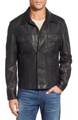 Schott NYC - Pebbled Leather Trucker Jacket