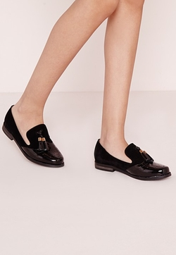 Missguided - Tassel Trim Loafers Black